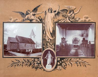 De to billeder under englene er mindst 100 år gamle.