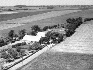 Selkærvej 12 set i retning mod nord i 1954.