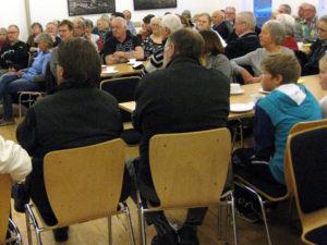 Lokalhistorisk Arkiv har i årenes løb holdt offentlige arrangementer i massevis. Her i Borum i 2013.