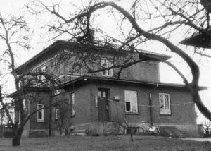 Lægeboligen i Borum set bagfra ca. 1960.