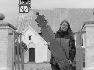 Marianne Schwartz med det sjældne gravminde.