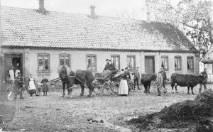 Amhøjgården præsenterer sig i 1896.